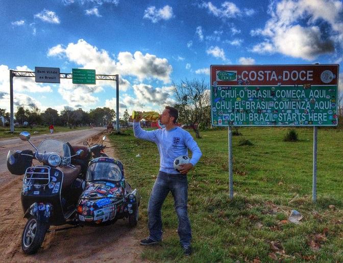 18000 км на скутере из Лондона в Рио